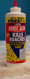 Photo of bottle of Boric Acid Roach Killer